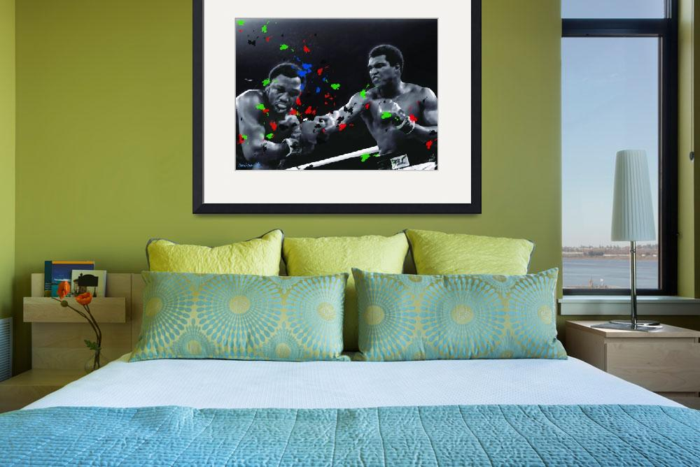 """""""Ali vs Frazier 2 poster-18inx24in-front&quot  by CandC"""