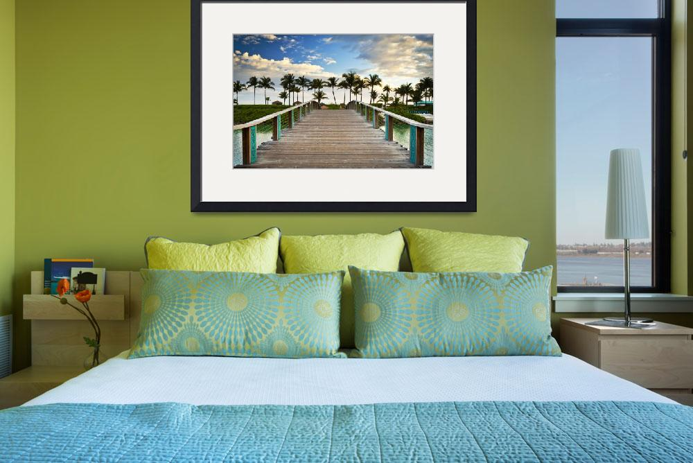 """""""Paradise Beach Tropical Palm Trees Islands Summer&quot  (2012) by DAPhoto"""