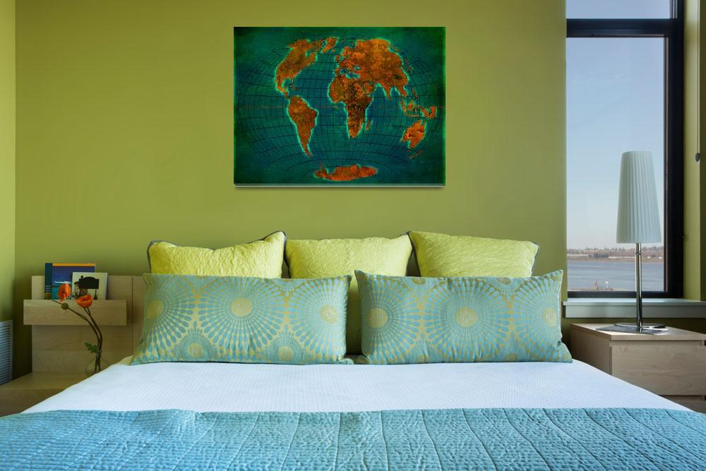 """""""World Map 1b&quot  (2013) by Marian1"""