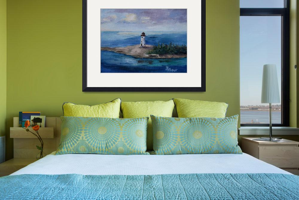 """""""Nassau Harbour Lighthouse&quot  (2013) by bmthour"""