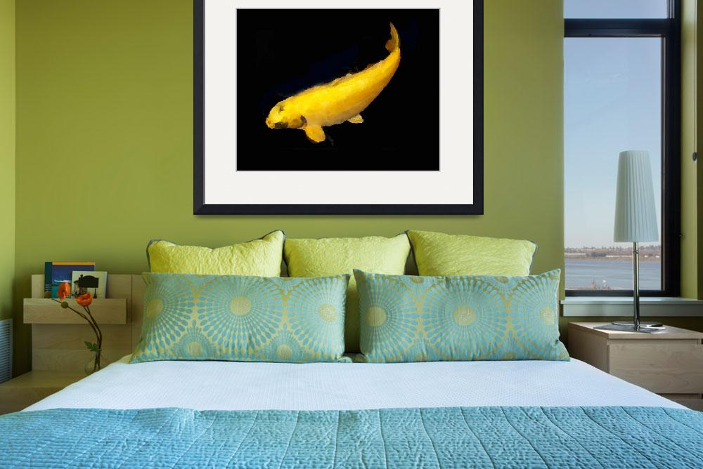 """""""Dazzling Yellow Koi""""  by MindSpins"""