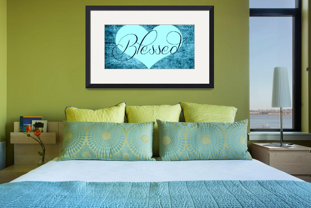 """""""blessed heart teals""""  by lizmix"""