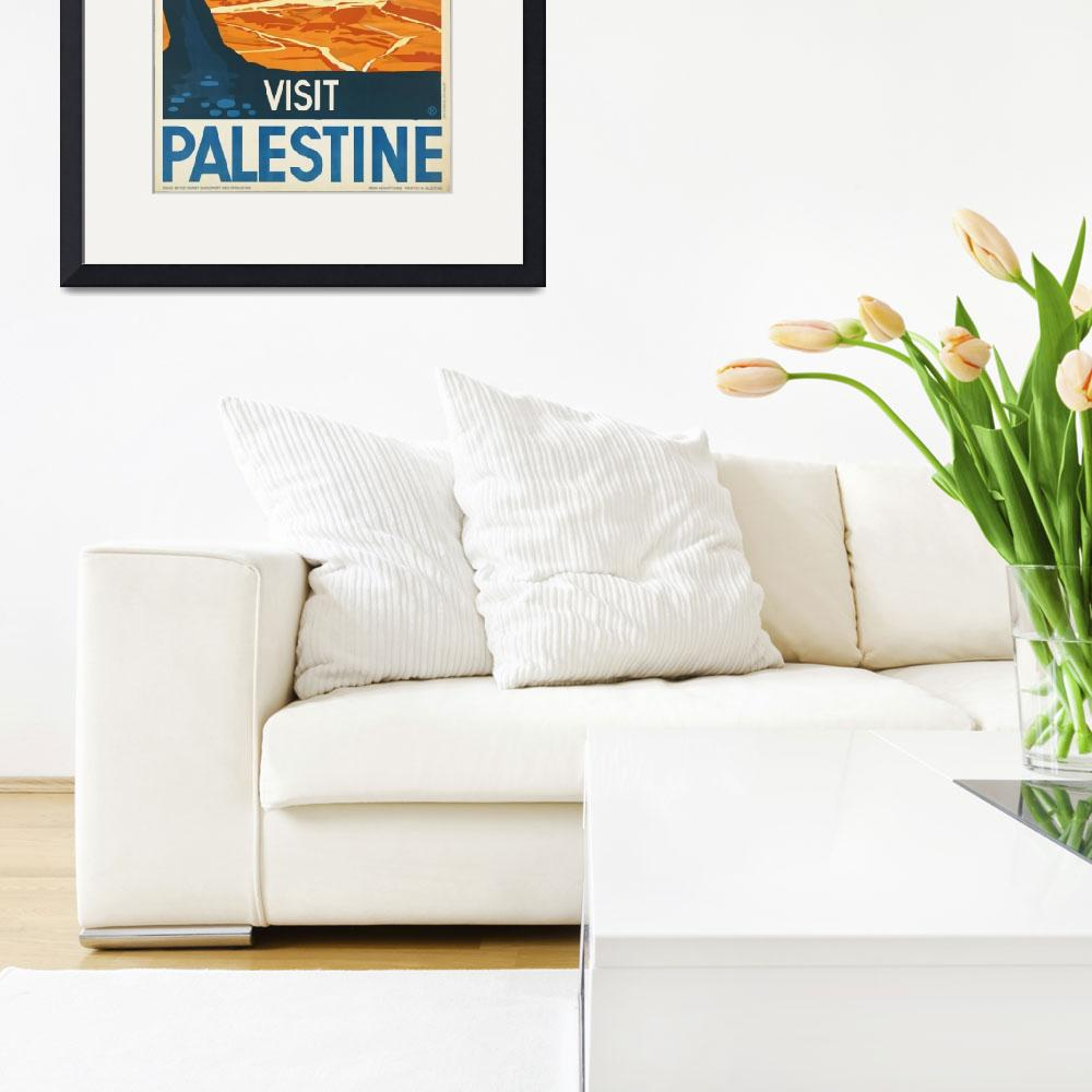 """""""Vintage poster - Palestine&quot  by mosfunky"""