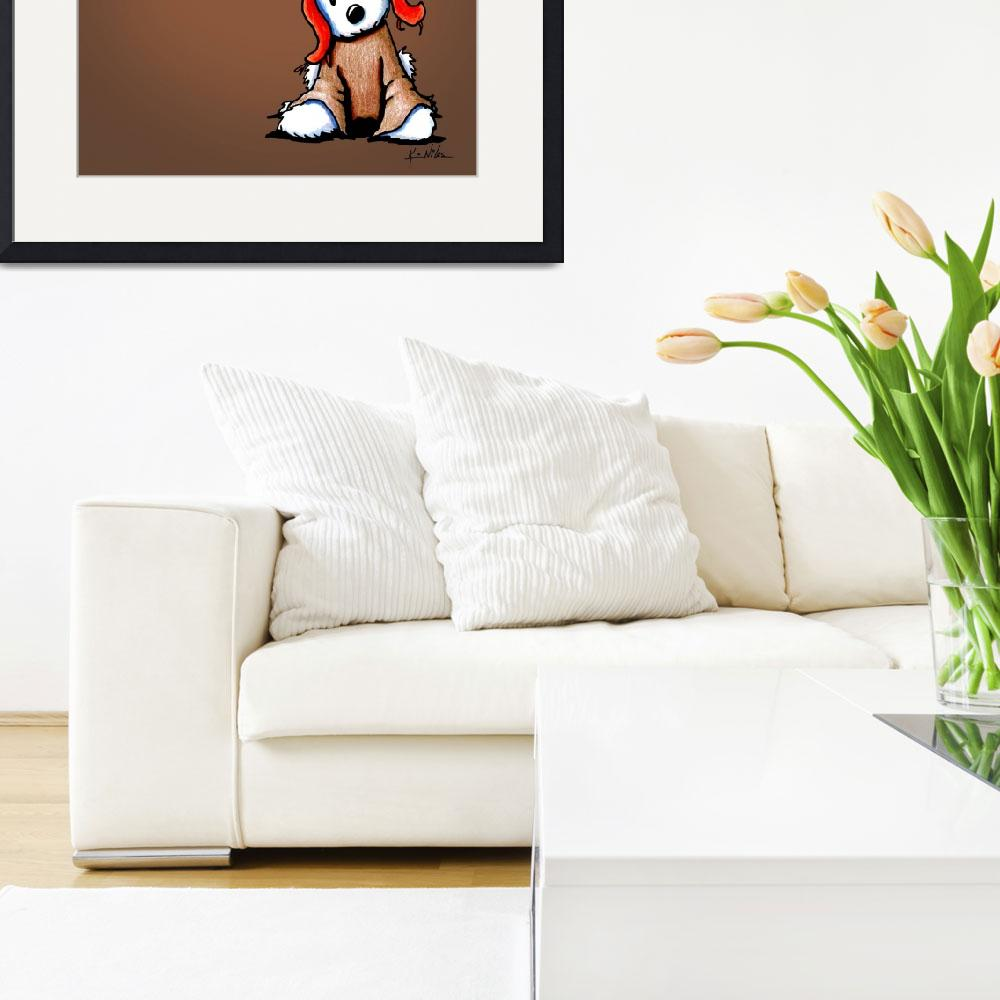 """""""Westie Flan Art on Brown&quot  (2012) by KiniArt"""