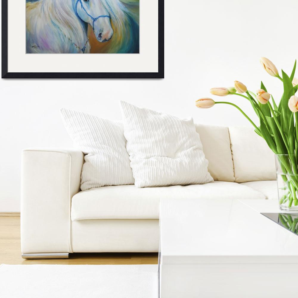 """""""MADDIE the ANGEL HORSE""""  (2011) by MBaldwinFineArt2006"""