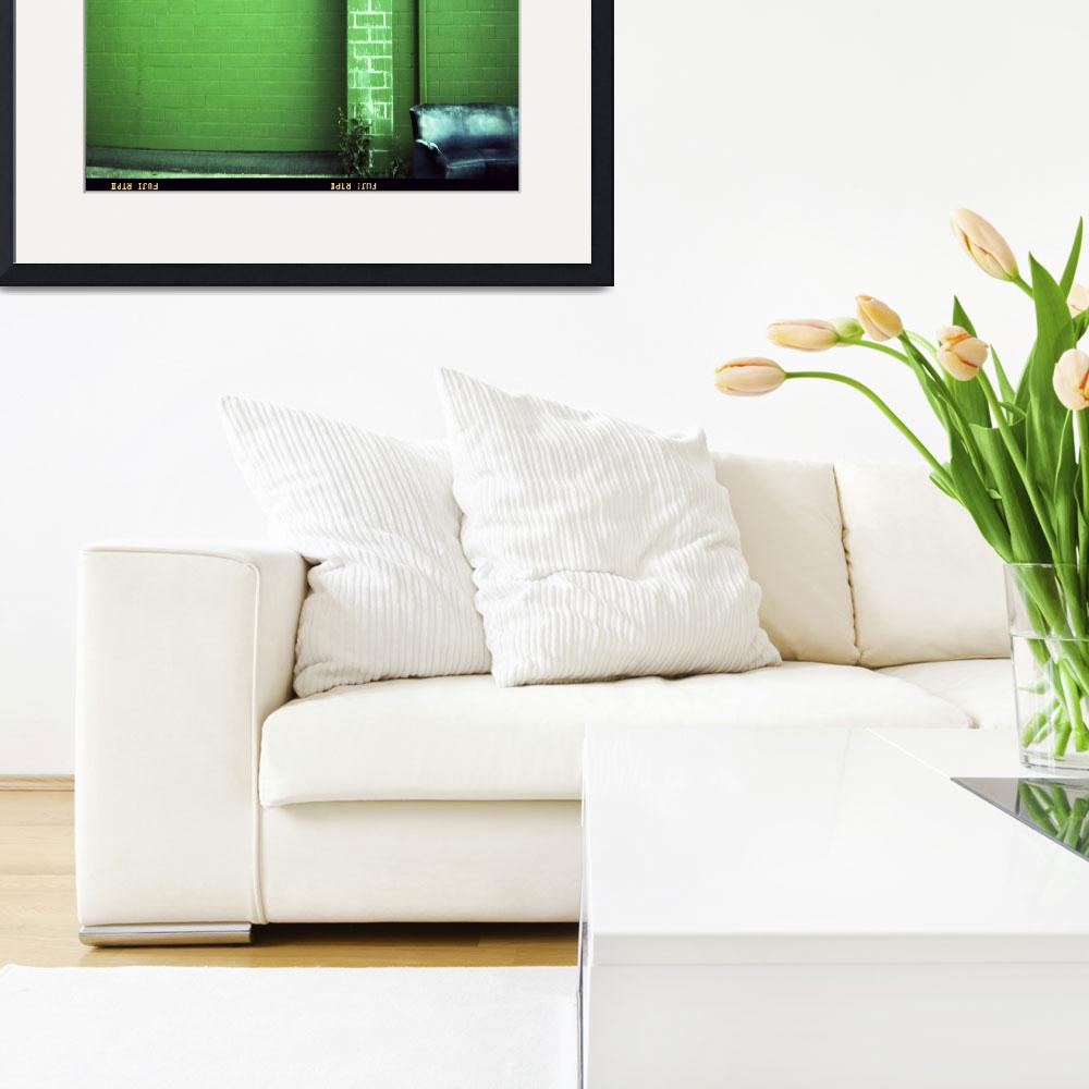 """""""Blue Couch Green Wall&quot  (2007) by mylatehope"""