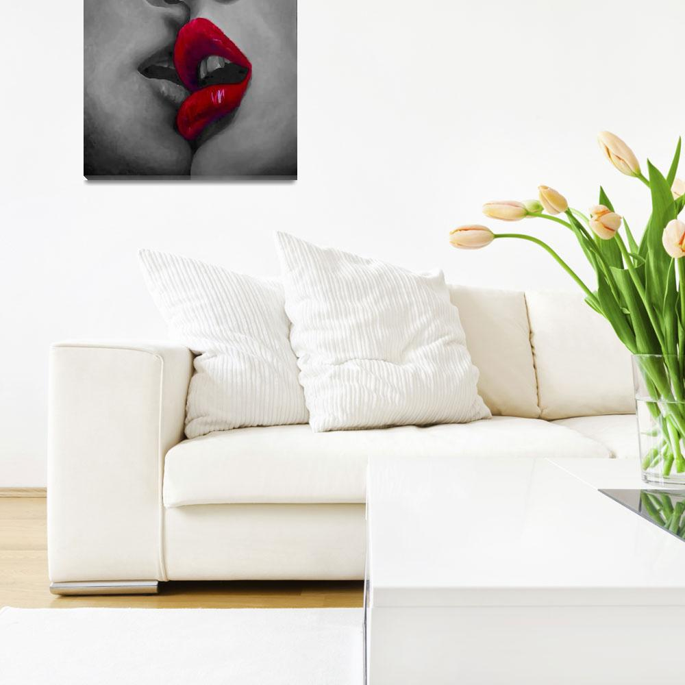 """""""Kiss Red Focus""""  (2009) by MuseInLove"""