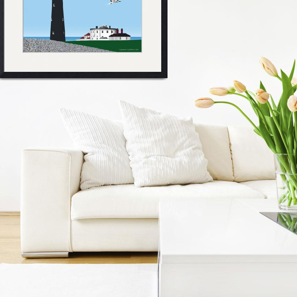 """Dungeoness Lighthouse&quot  (2011) by RawVista"