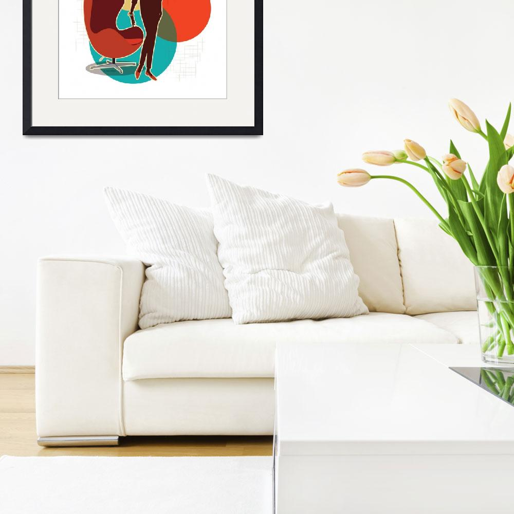 """Mid Century Modern Egg Chair Print""  (2016) by DianeDempseyDesign"