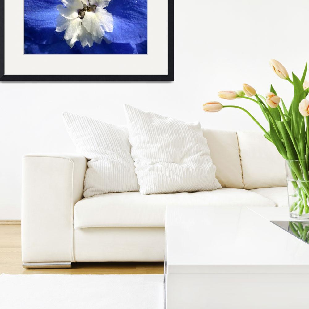 """""""Blue Pollenating Flower&quot  by JanusianGallery"""
