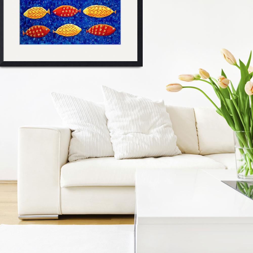 """""""RED AND YELLOW FISH&quot  by julienicholls"""