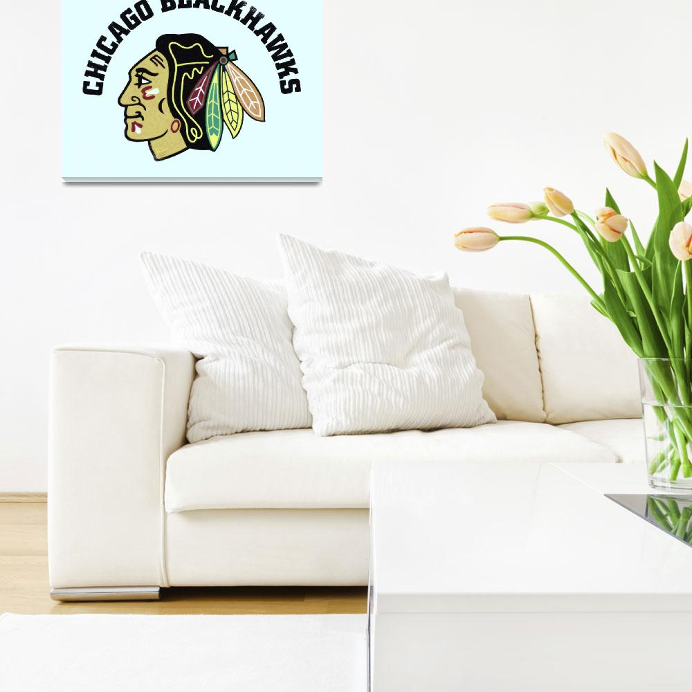 """Chicago Blackhawks""  by motionage"