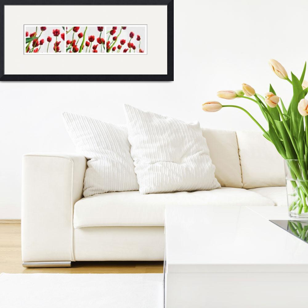 """""""Red Tulips from the Bottom Up""""  (2008) by Michelle1991"""