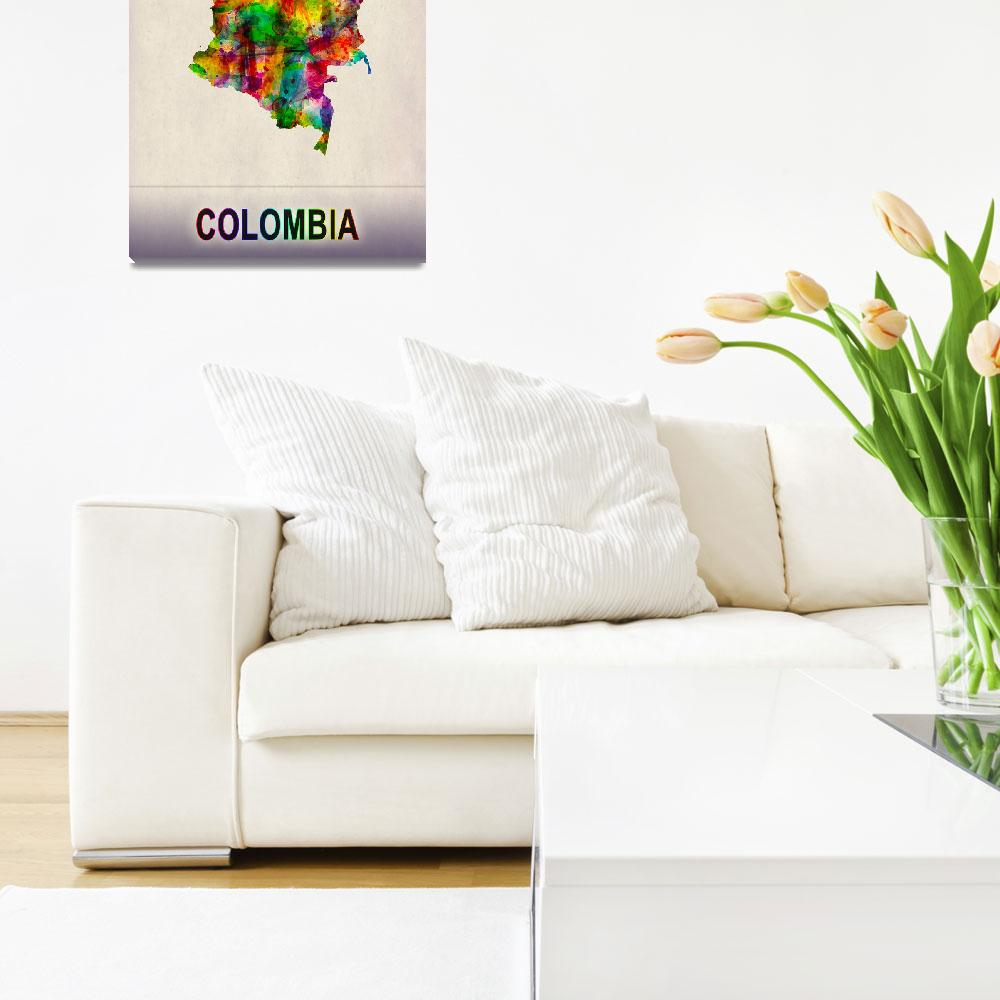 """""""Colombia Map""""  by Towseef"""