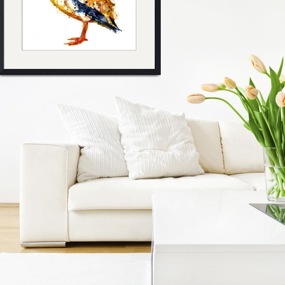 """""""Pelican Watercolor Painting&quot  (2015) by MarianVoicu"""