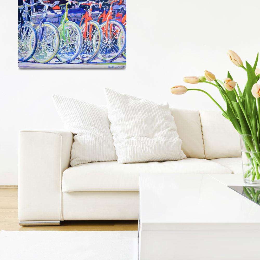 """""""Bicycles In A Row&quot  (2007) by RDRiccoboni"""