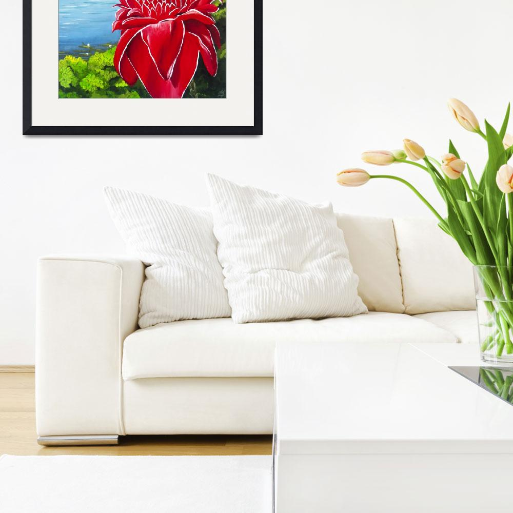 """""""Red Torch Ginger Lily&quot  (2013) by monicadowns"""