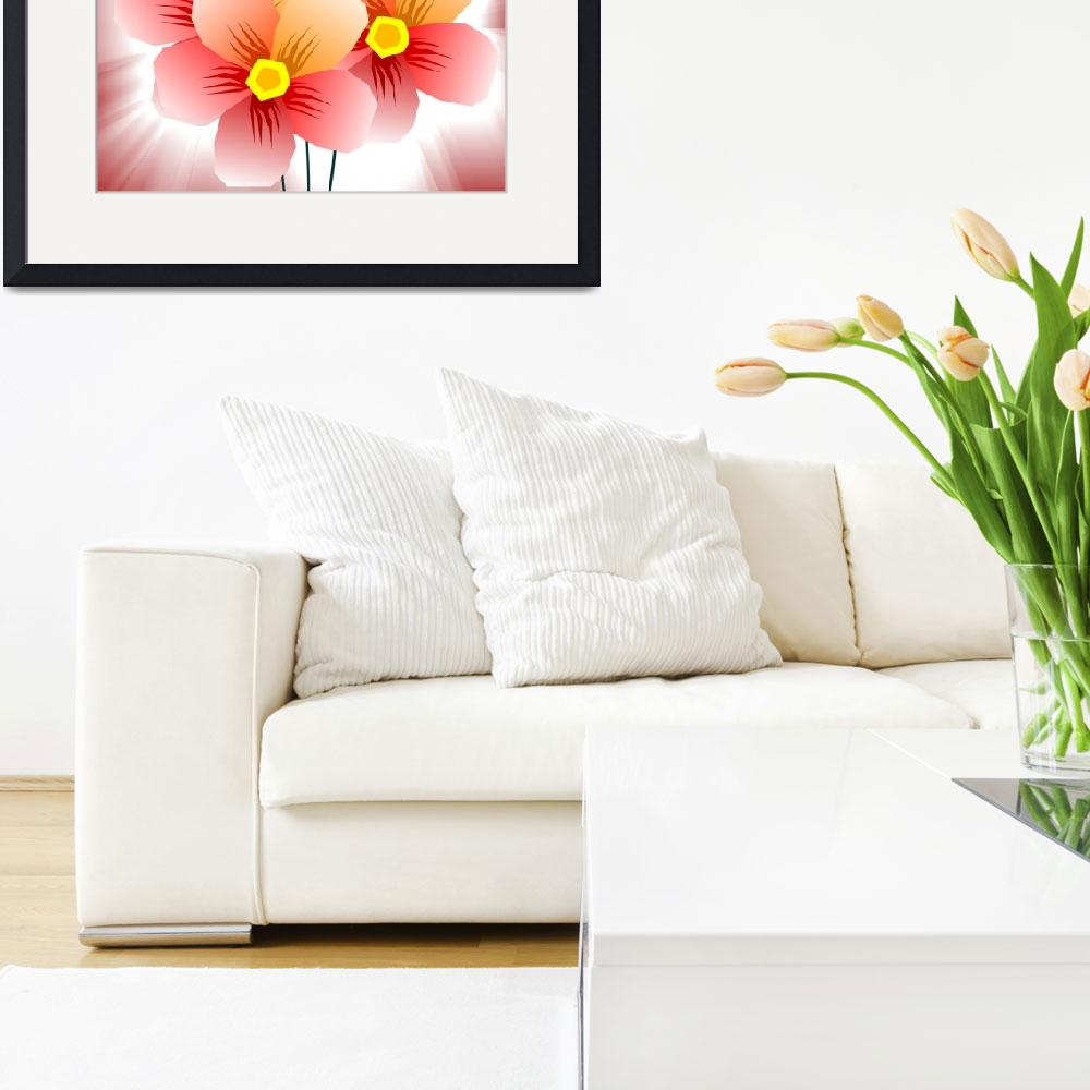 """""""Digital painting of flowers&quot  (2009) by digitalpainting"""