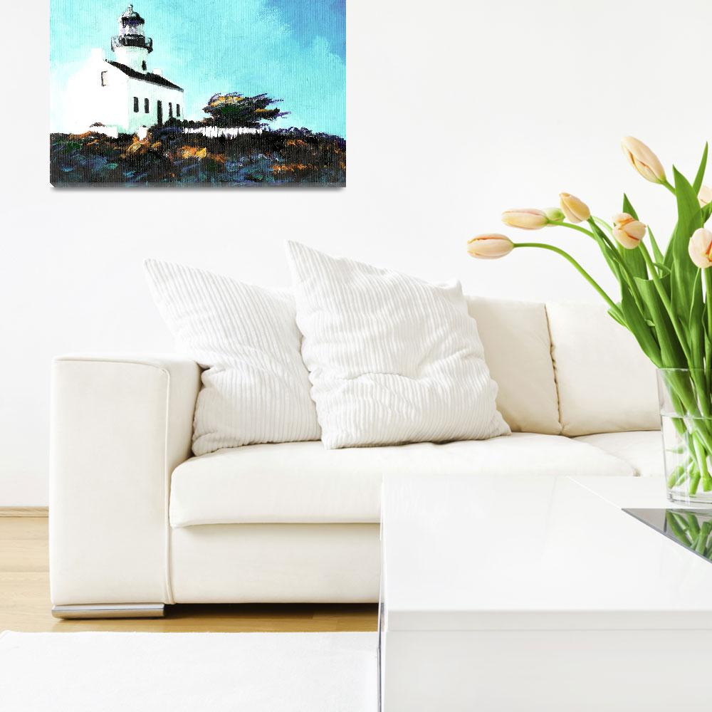 """""""Old Point Loma Light House by Riccoboni&quot  (2007) by RDRiccoboni"""