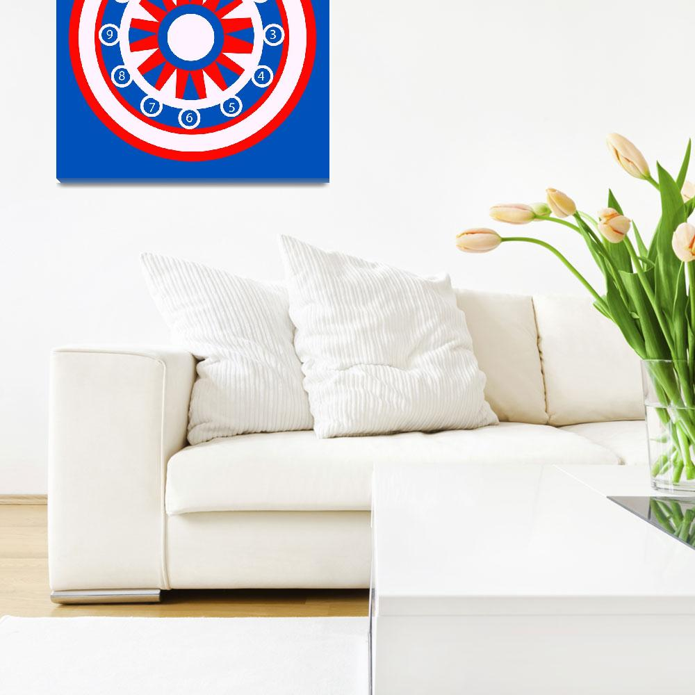"""""""Red, White and Blue CIrcular Design""""  by EmmaLuLu"""