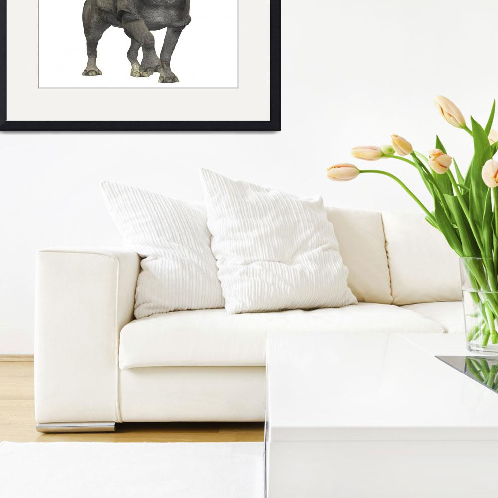 """""""Brontotherium is a rhinocerous-like mammal&quot  by stocktrekimages"""