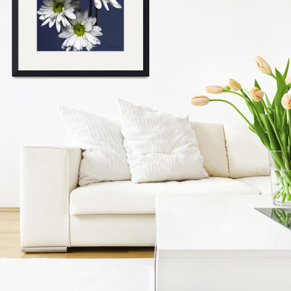 """""""Cascade of White Daisies&quot  by susansartgallery"""