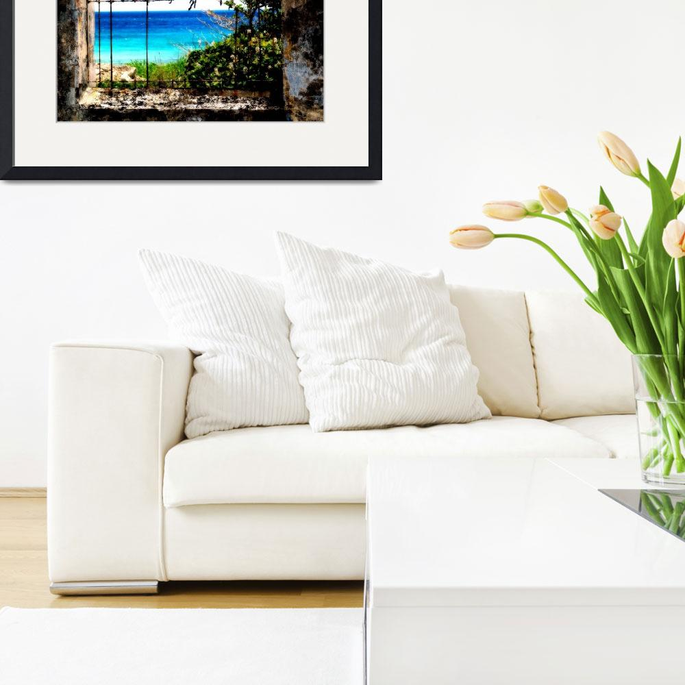 """""""Framed Sea View&quot  by keithclarkephotography"""
