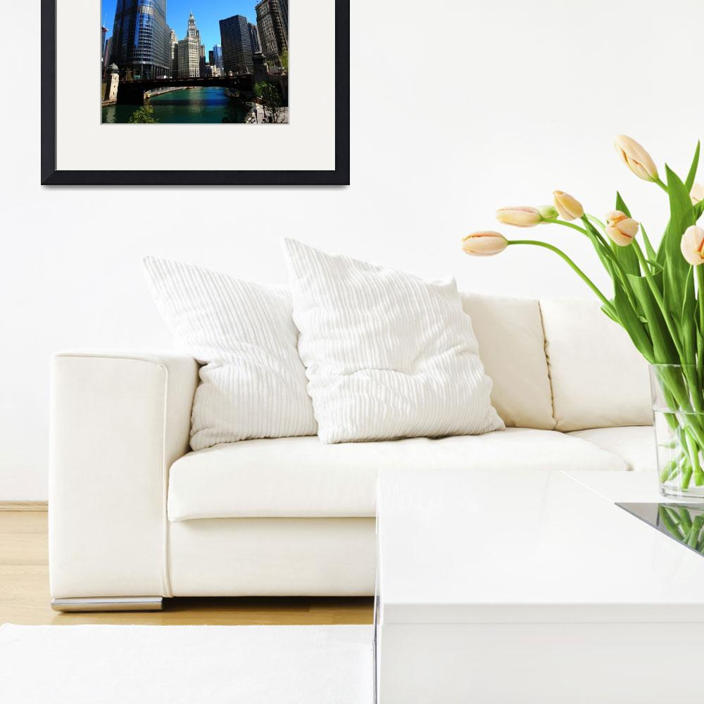 """""""Chicago River and Skyline 2010""""  (2010) by Ffooter"""