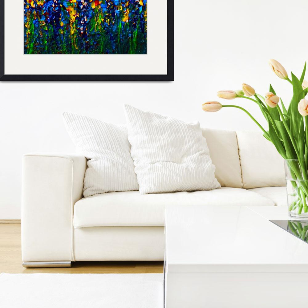 """""""3b Abstract Expressionism Floral Painting&quot  (2015) by Ricardos"""