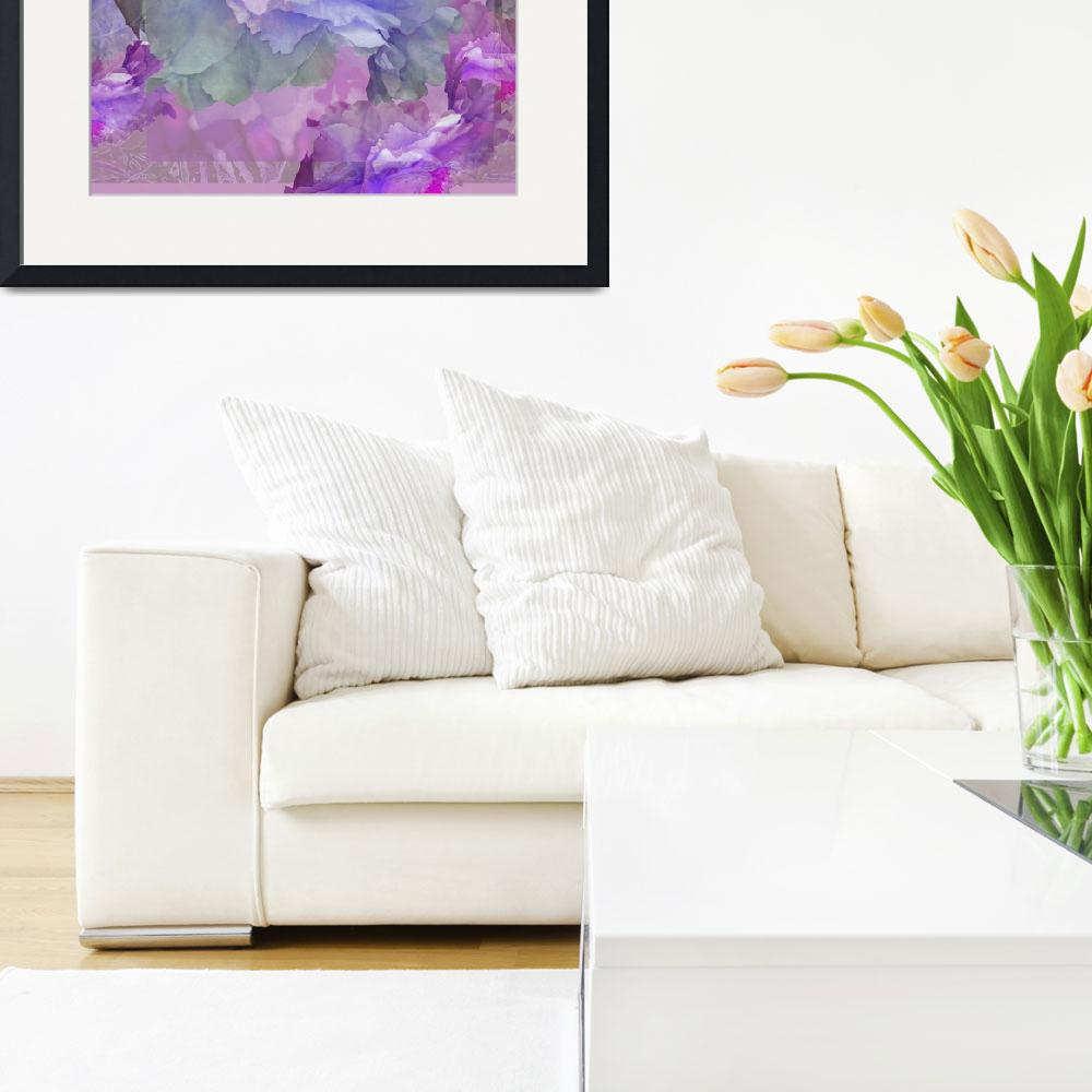 """Floral Potpourr iwith Peonies 3&quot  by LyndaLehmann"