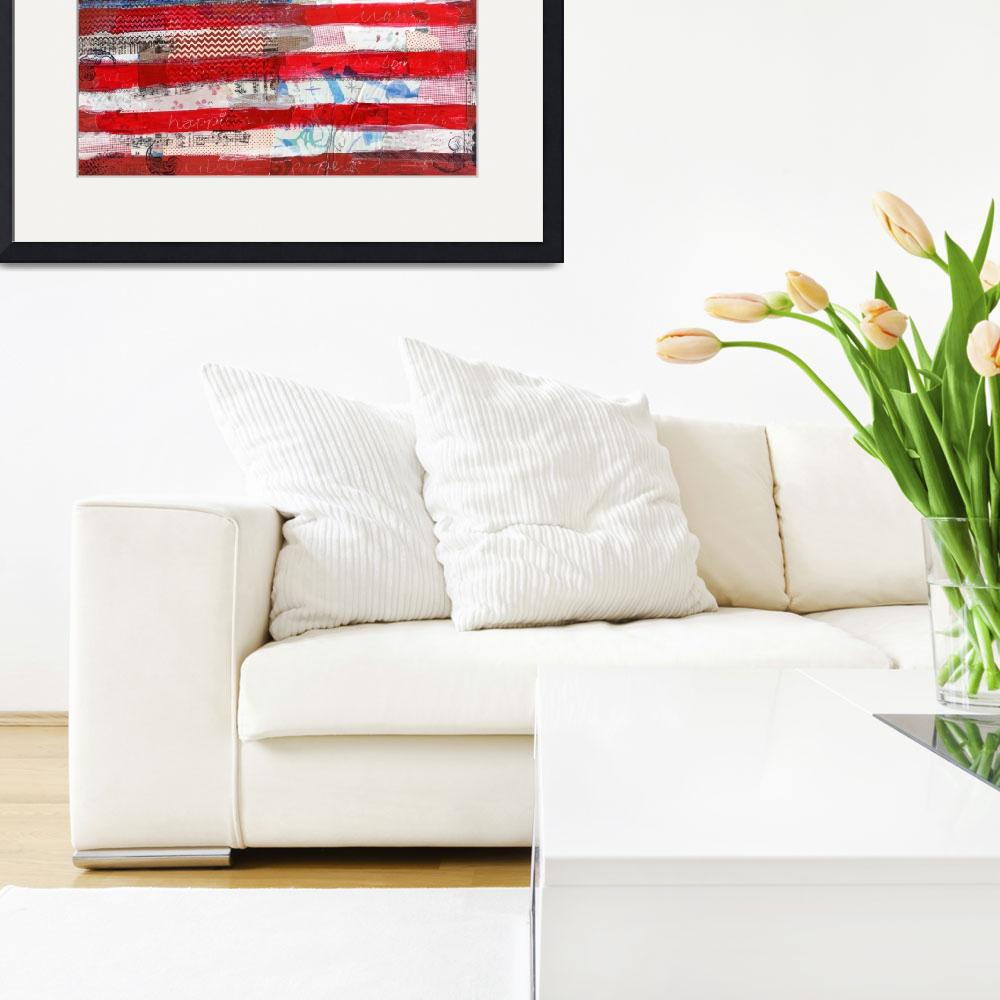 """""""American flag&quot  (2013) by schulmanart"""