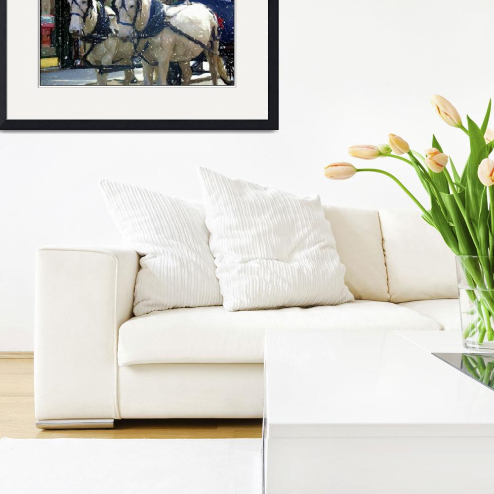 """""""Charleston Horses&quot  (2006) by traceywaters"""
