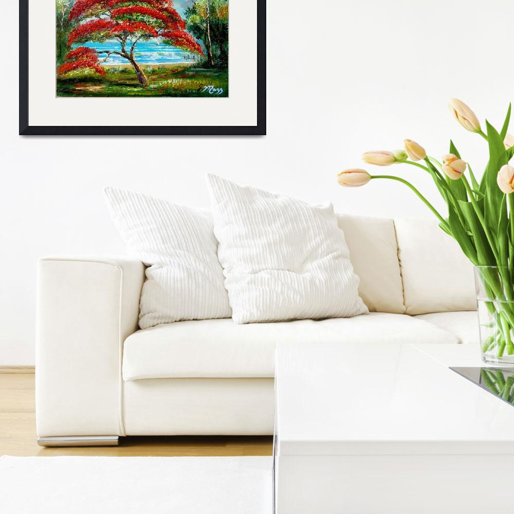 """""""Royal Poinciana Painting&quot  (2008) by mazz"""