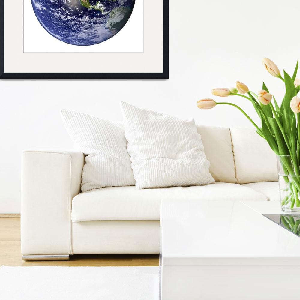 """Earth showing North America (white background).""  by stocktrekimages"
