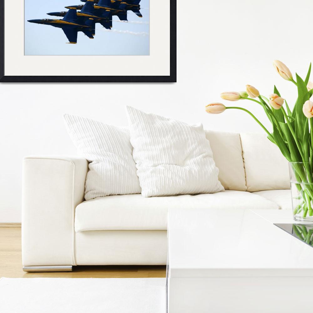 """Blue Angels Echelon&quot  (2010) by DonnaCorless"