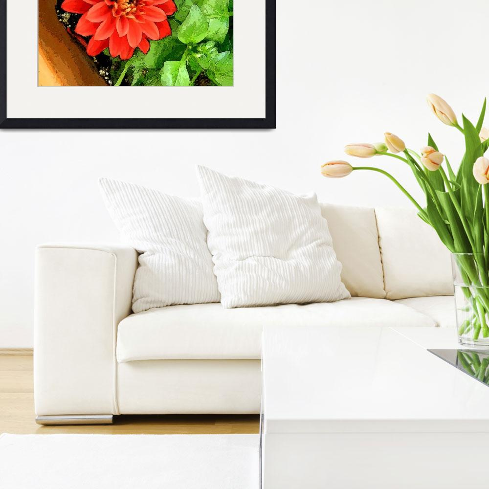 """""""Red Flower In A Pot""""  by RuthPalmer"""