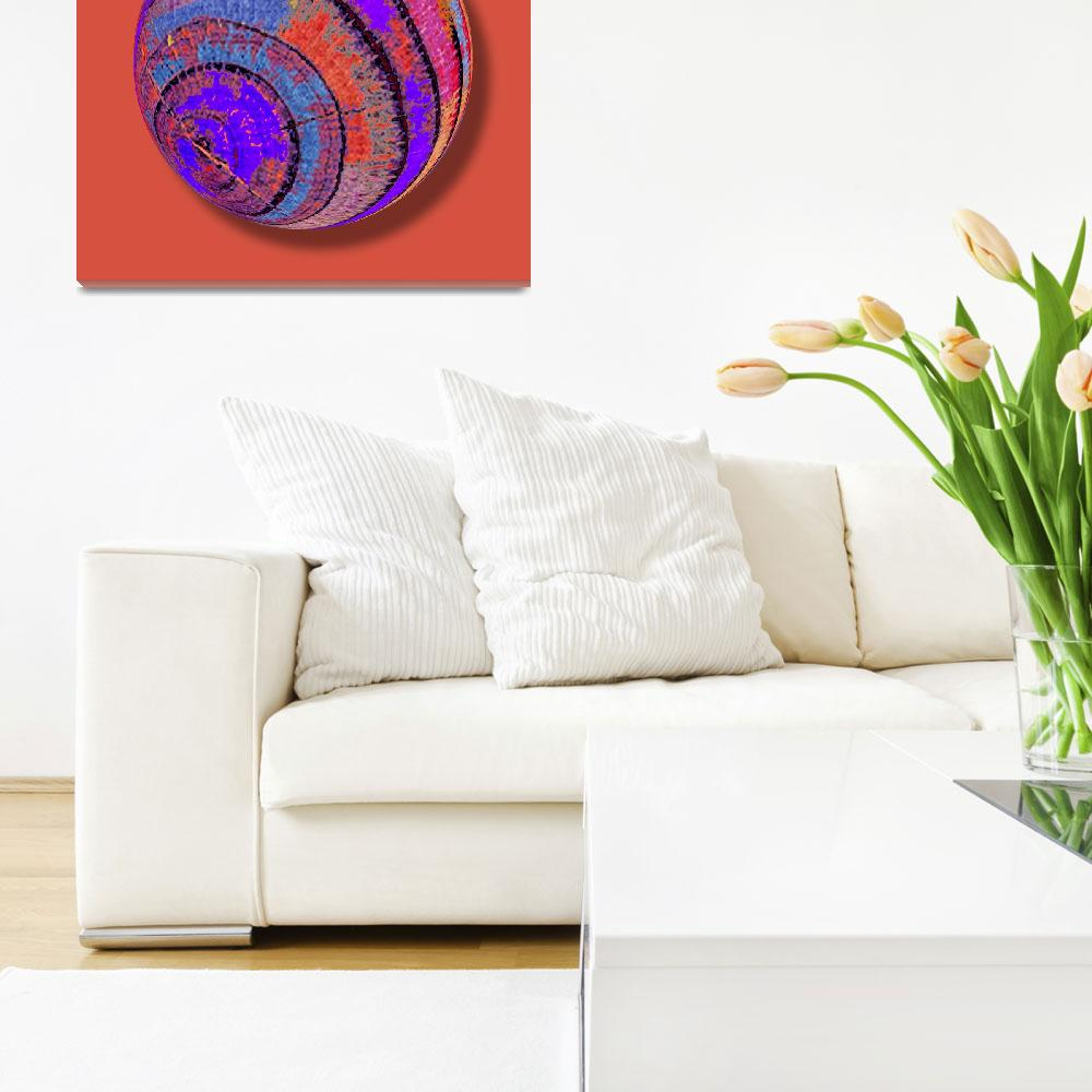 """Tree Ring Abstract Orb""  (2018) by RubinoFineArt"