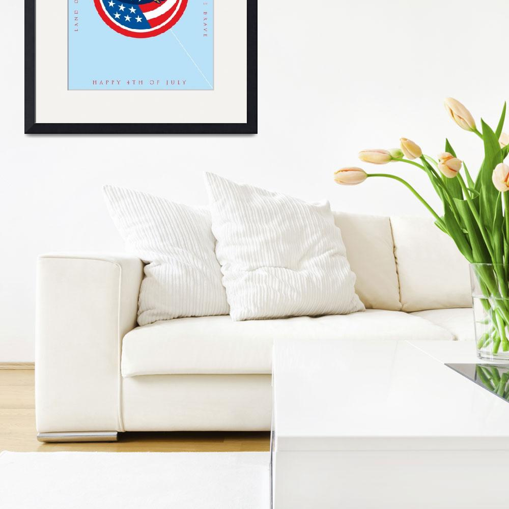 """""""Independence Day Greeting Card-American Bald Eagle&quot  (2015) by patrimonio"""