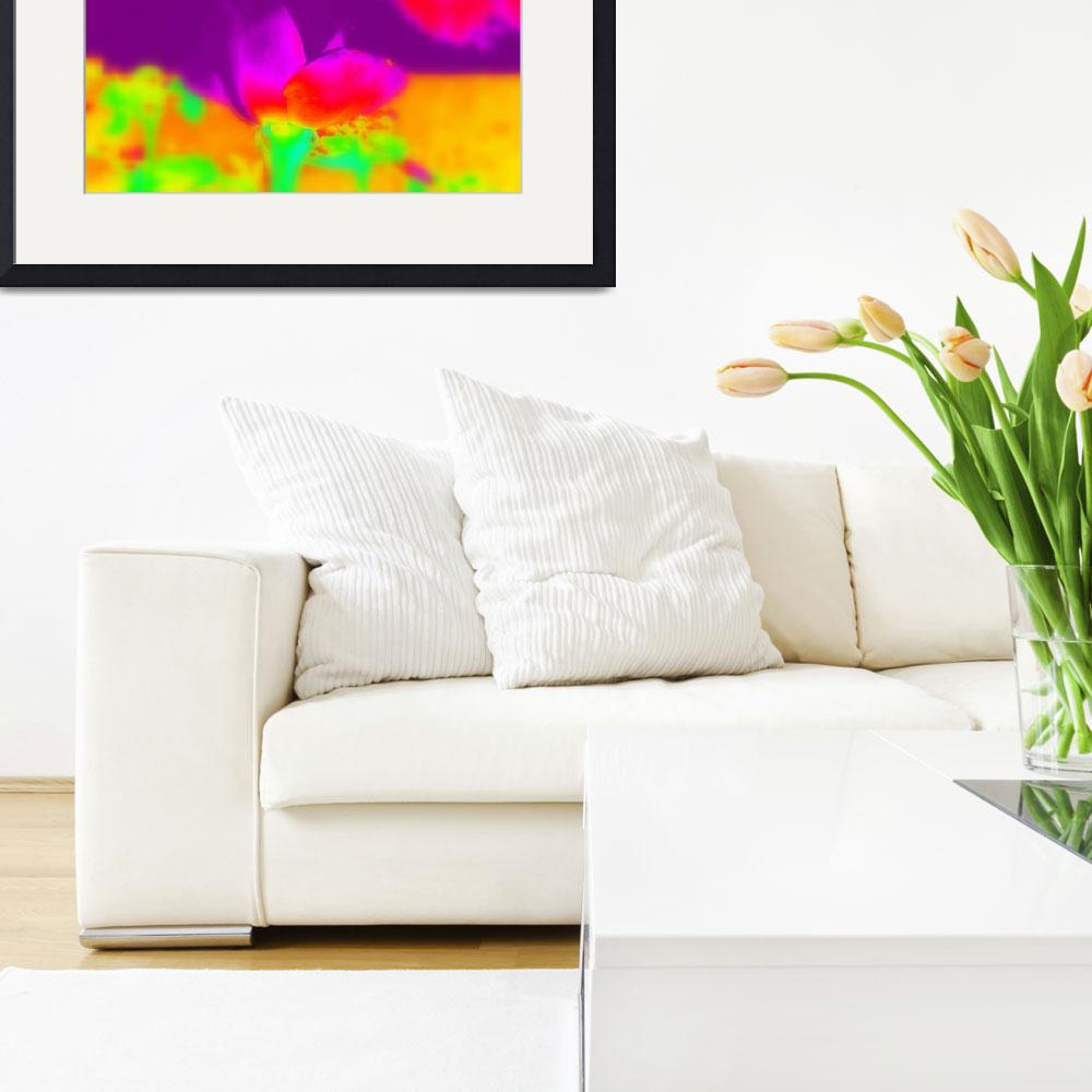 """""""Neon Rose&quot  (2014) by artographic66"""