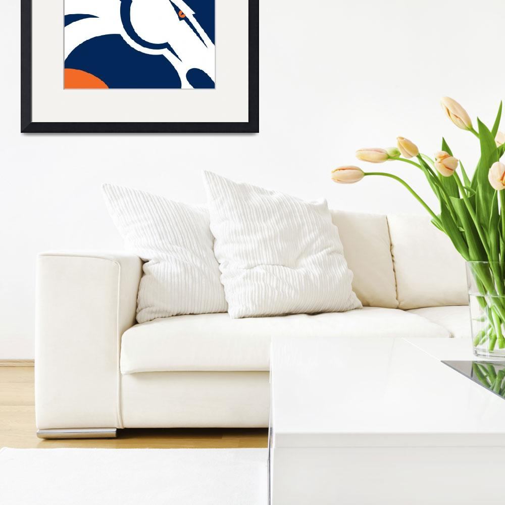 """""""Denver Broncos Football&quot  (2016) by RubinoFineArt"""