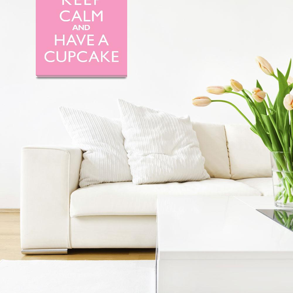 """Keep Calm and have a cupcake""  by cjprints"