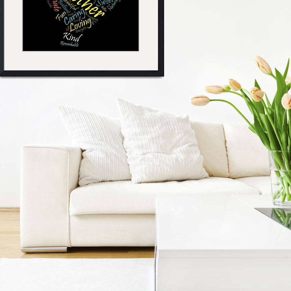 """""""Mother in 100 Words&quot  (2012) by citywallart"""