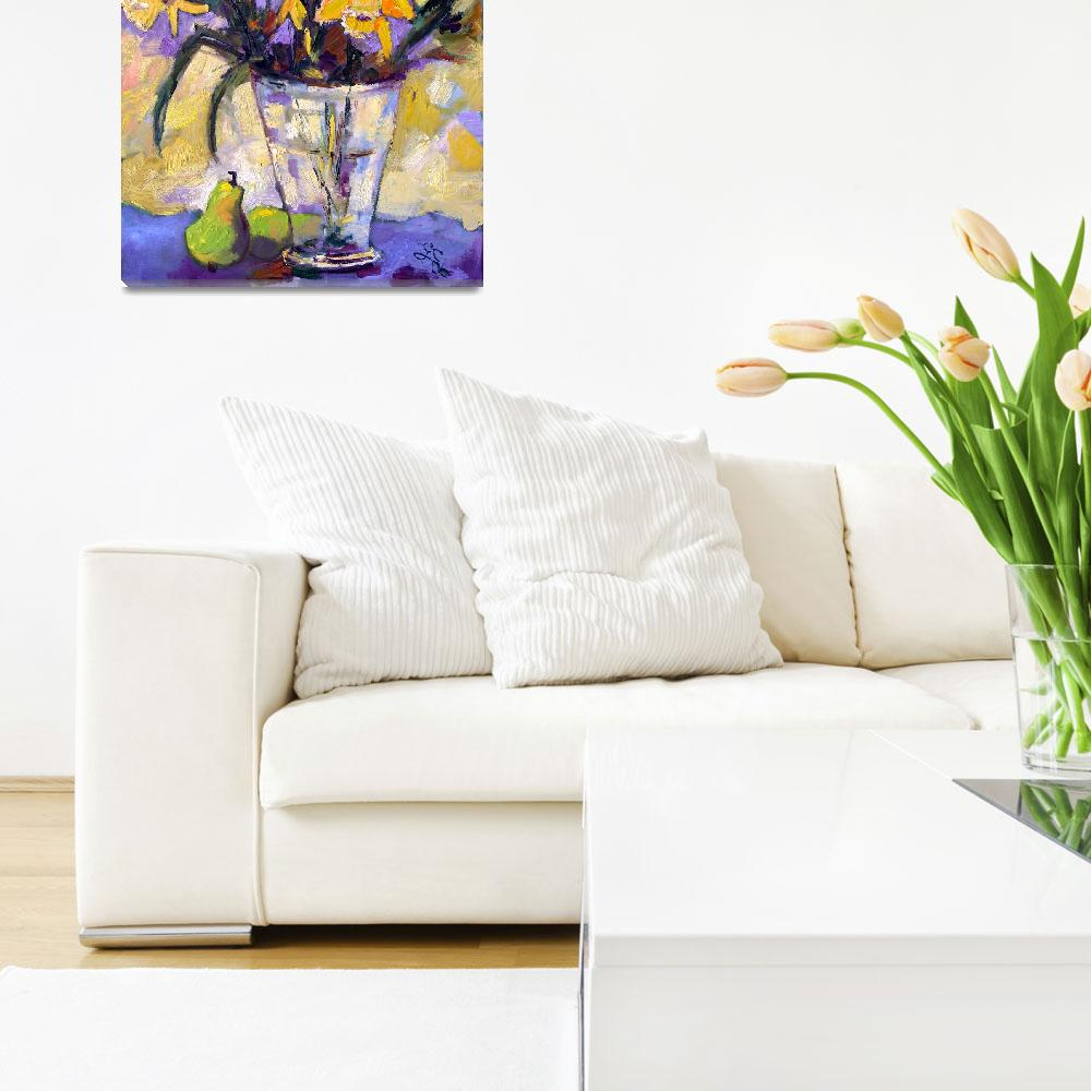 """Daffodils Still life Oil Painting by Ginette Calla&quot  (2006) by GinetteCallaway"