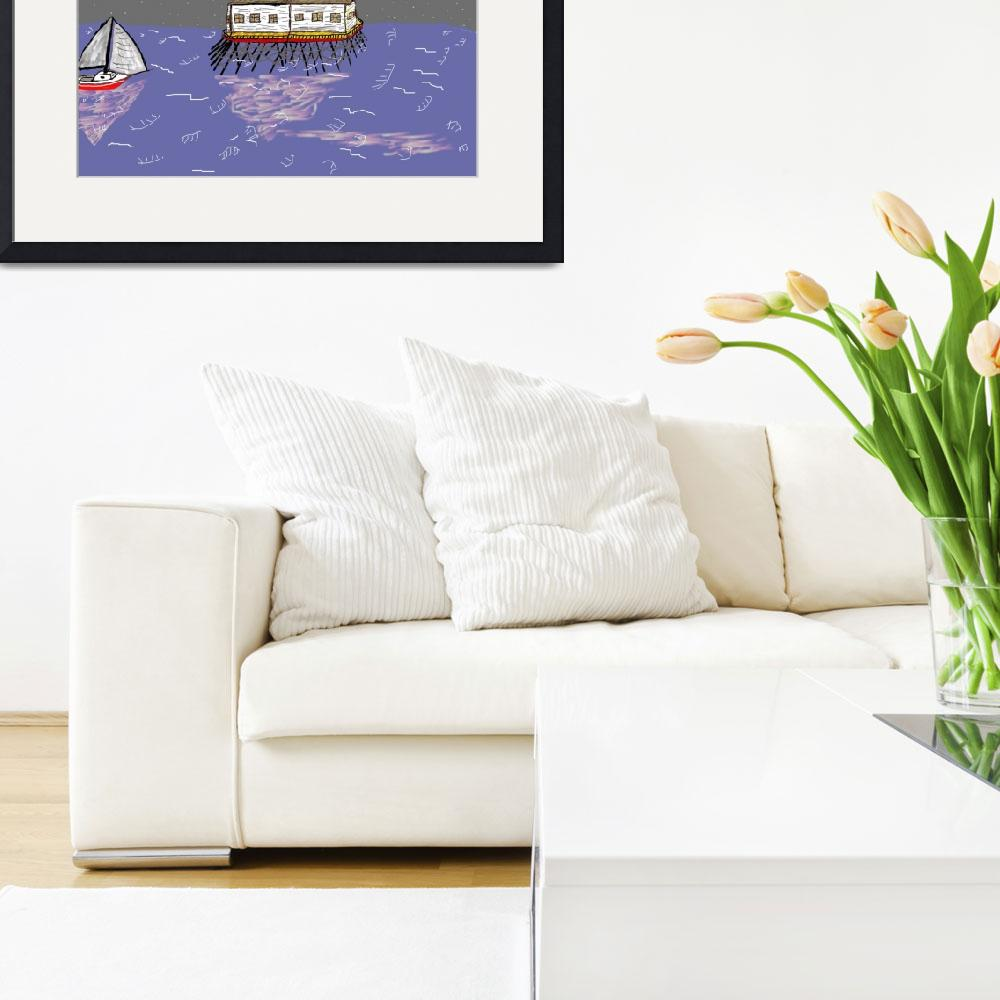 """""""Middle Bay Light_Colored""""  by robandcherylesartgallery"""
