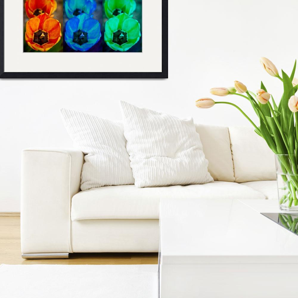 """""""Colorful Tulip Collage&quot  by lightningman"""