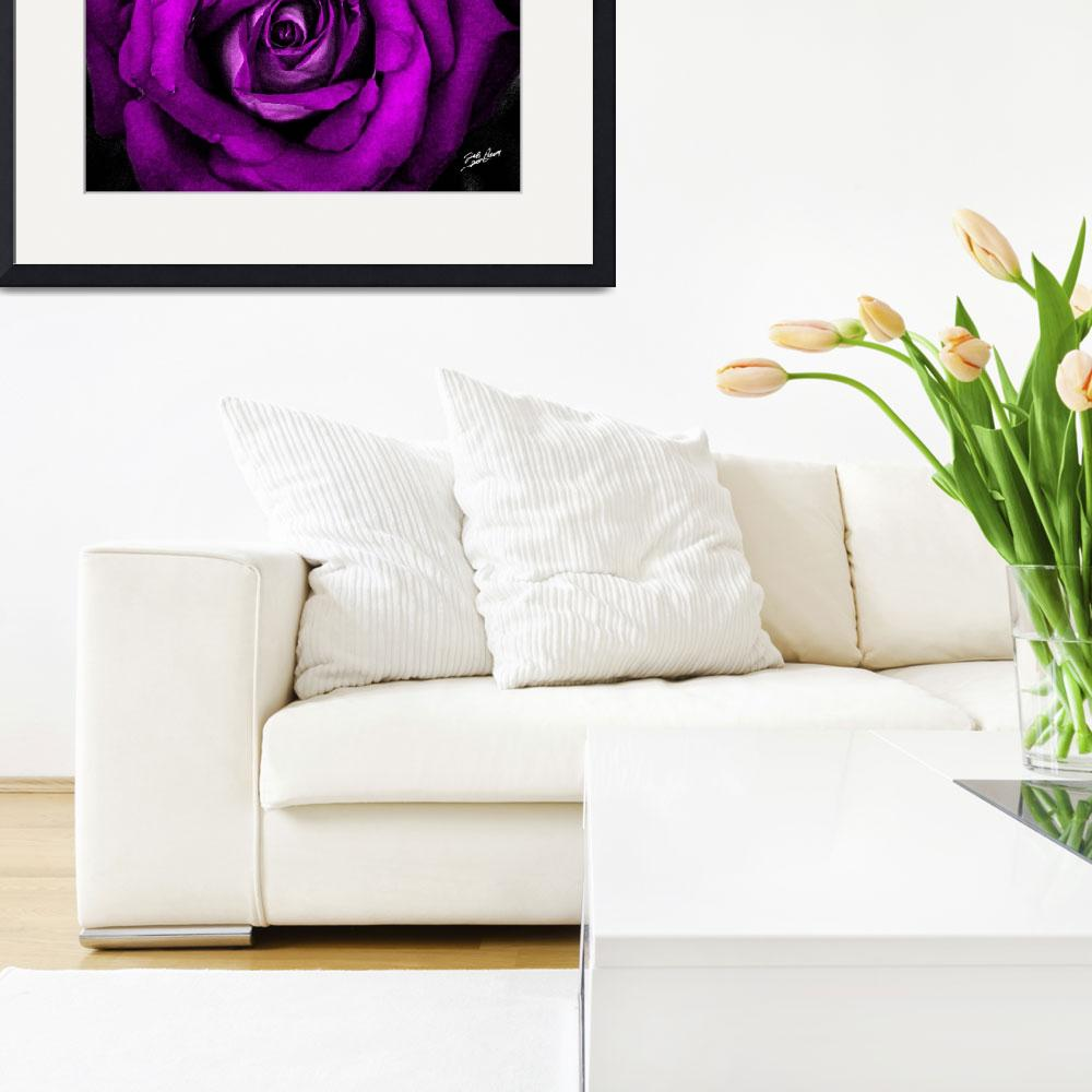 """""""Watercolor Pink Rose&quot  (2012) by SouthIdahoPhoto"""