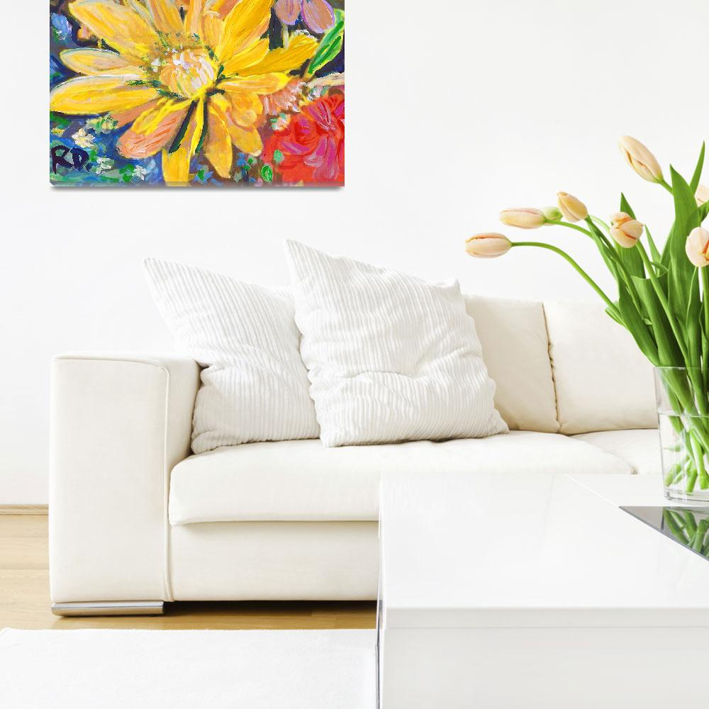 """""""Yellow Bouquet Flowers&quot  (2017) by RDRiccoboni"""