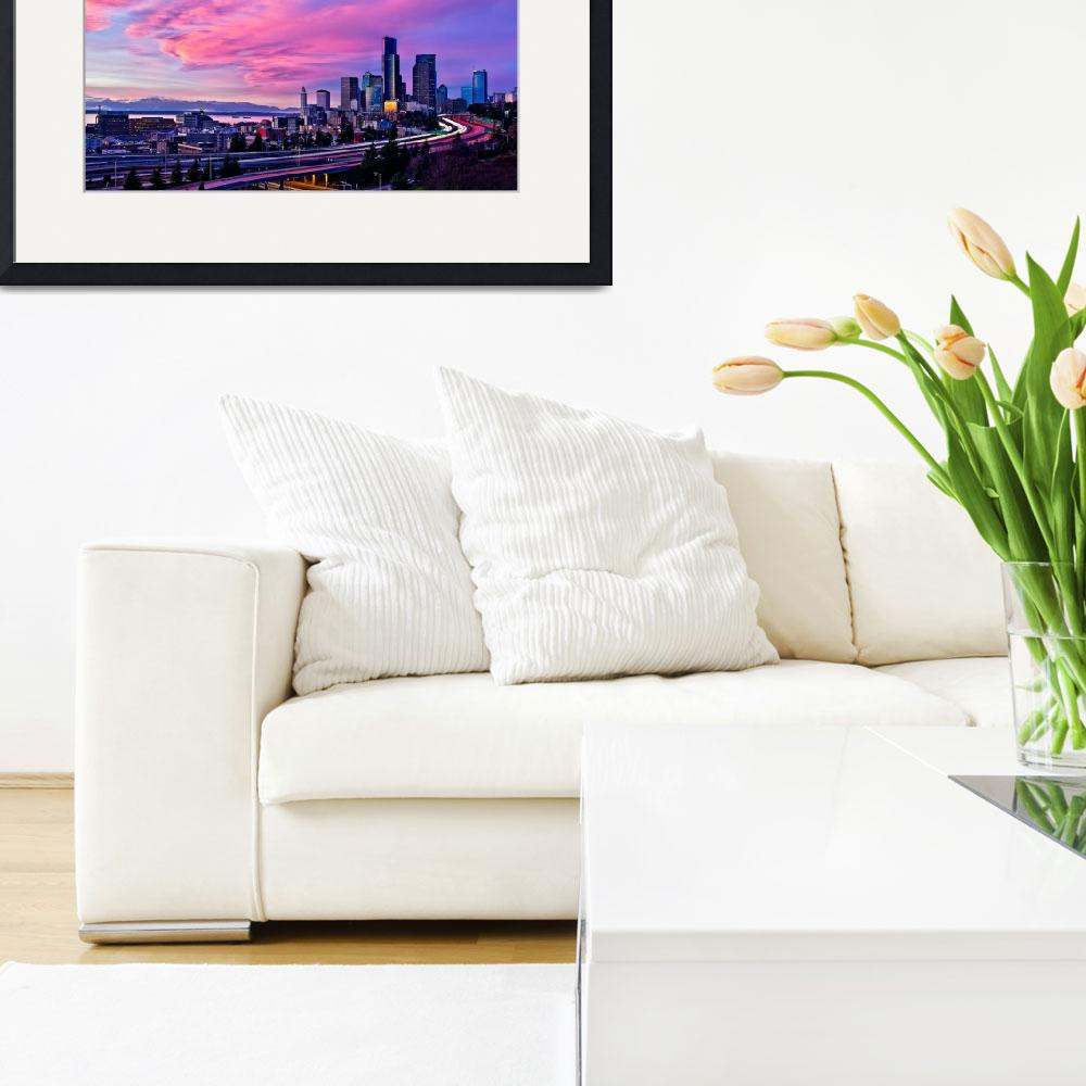 """""""City In Pink&quot  (2010) by Surrealize"""