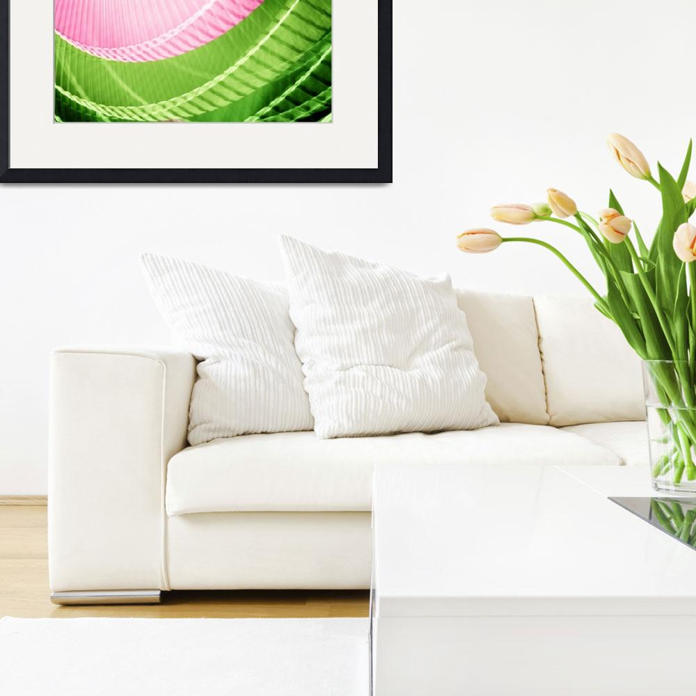 """""""Pink and Green Abstract Wall Art""""  (2010) by NatalieKinnear"""