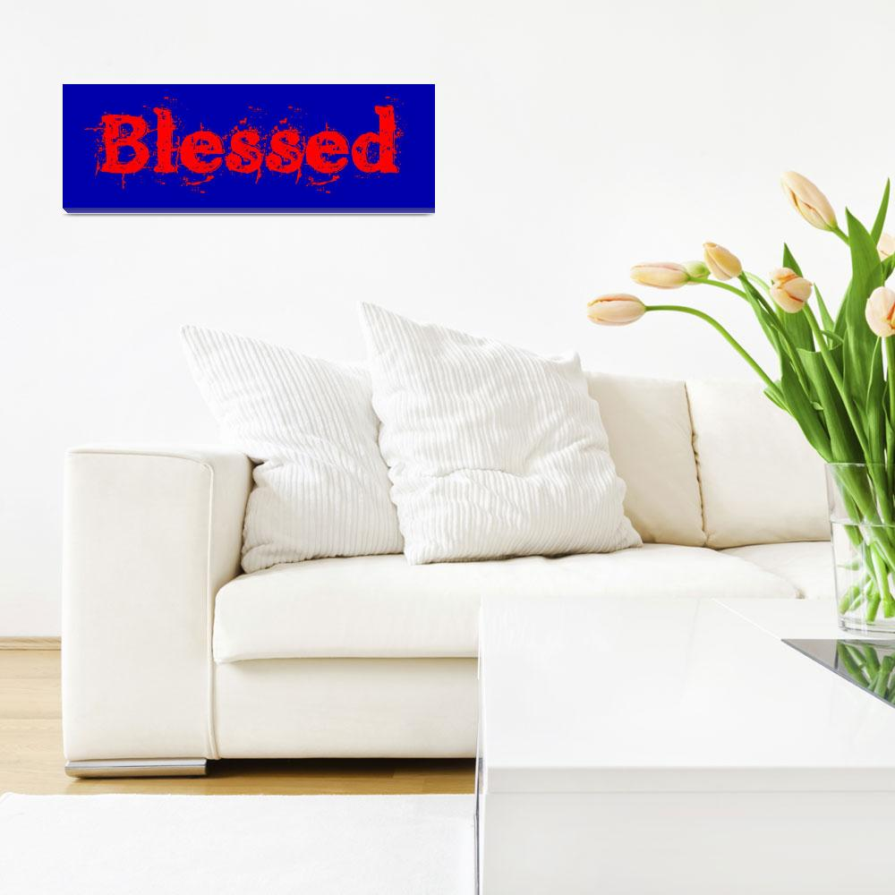 """""""blessed old print red and blue""""  by lizmix"""